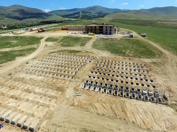 Asri Mezarlık Projesi İnşaatı Hızla Devam Ediyor